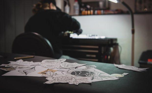 Scott Berg Tattoo - making art